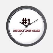 Number 1 CONFERENCE CENTER MANAGER Wall Clock