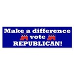 Vote Republican Sticker (Bumper)