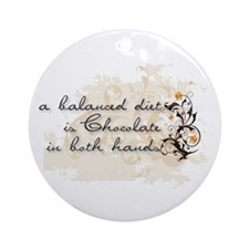 Balanced Diet Ornament (Round)