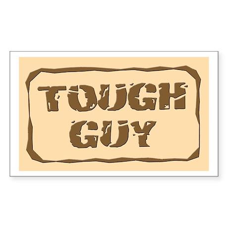 Tough Guy Rectangle Sticker