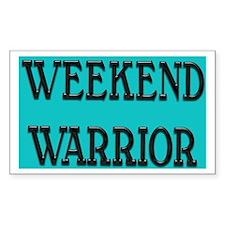 Weekend Warrior Rectangle Decal