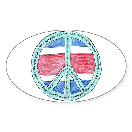 Pure Life Oval Sticker (10 pk)