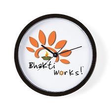 Bhakti Works! Wall Clock