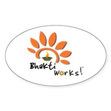 Bhakti Works! Oval Decal