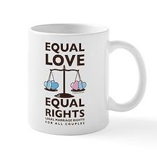 """Equal Love"" Blue Hearts Mug"