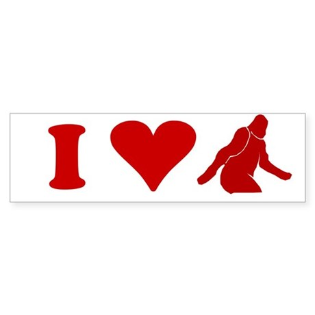 I LOVE BIGFOOT SHIRT T-SHIRT Bumper Sticker