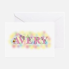 """""""Avery"""" with Mice Greeting Card"""