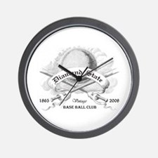 Funny Ball state cardinals Wall Clock