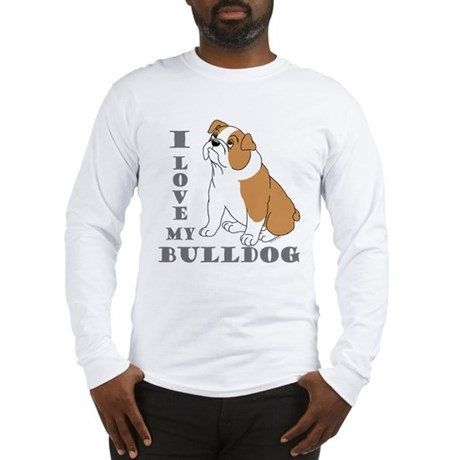 Bulldog, Eng. (Brn&wht) Long Sleeve T-Shirt
