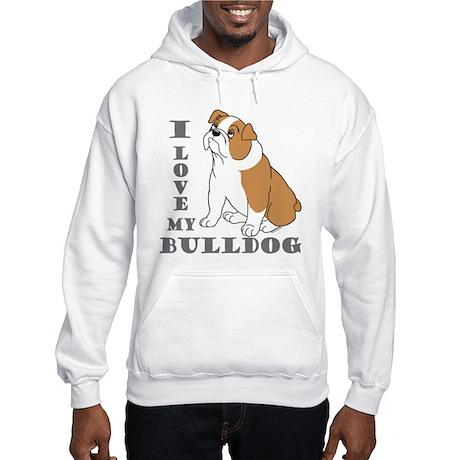 Bulldog, Eng. (Brn&wht) Hooded Sweatshirt