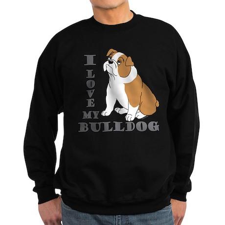 Bulldog, Eng. (Brn&wht) Sweatshirt (dark)