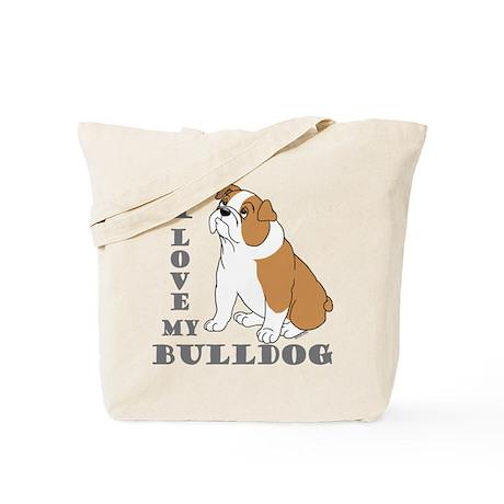 Bulldog, Eng. (Brn&wht) Tote Bag