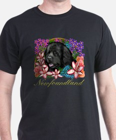 Newfoundland Dog Black T-Shirt