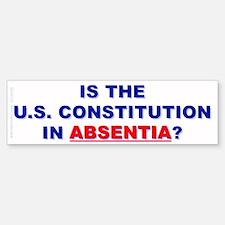U.S. Constitution Missing? (Bumper Sticker)