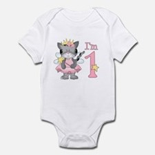 Kitty Princess First Birthday Infant Bodysuit