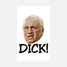 DICK Rectangle Sticker 10 pk)