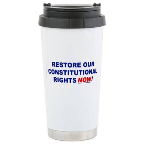 Restore our Constitution Stainless Steel Travel Mu