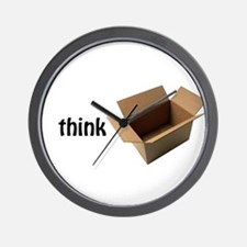 Cute Never think outside the box Wall Clock