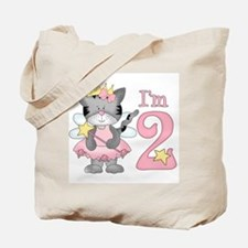 Kitty Princess 2nd Birthday Tote Bag