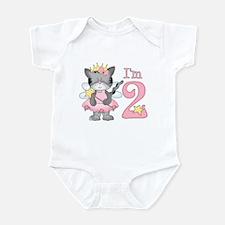 Kitty Princess 2nd Birthday Infant Bodysuit