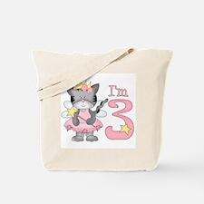 Kitty Princess 3rd Birthday Tote Bag