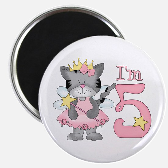 Kitty Princess 5th Birthday Magnet