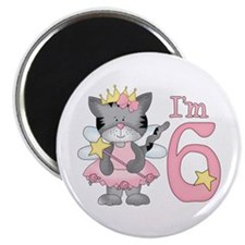 "Kitty Princess 5th Birthday 2.25"" Magnet (10 pack)"