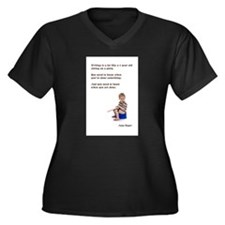 Anna's Salty Sayings Women's Plus Size V-Neck Dark
