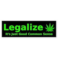 Legalize Common Sense Bumper Car Sticker