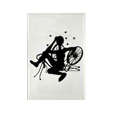 Cyclist Crash Rectangle Magnet