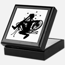 Cyclist Crash Keepsake Box