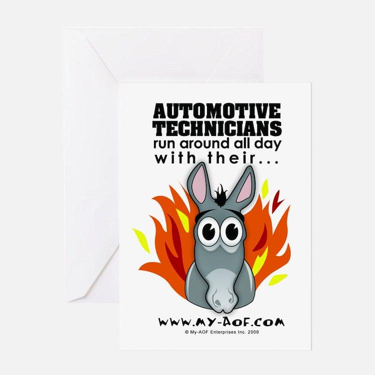 Automotive Technicians Greeting Card