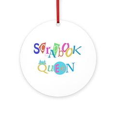 Scrapbook Queen Crown Ornament (Round)