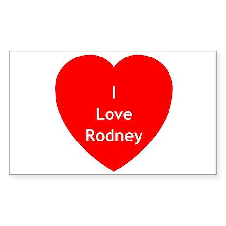 SGA Love Rodney Rectangle Sticker