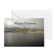 Rainbow over Dominica Greeting Card