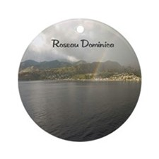 Rainbow over Dominica Ornament (Round)