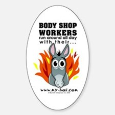 Body Shop Workers Oval Decal