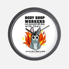 Body Shop Workers Wall Clock