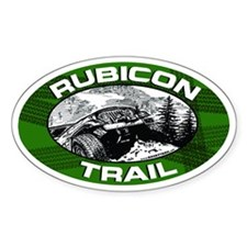 Rubicon Trail Green Oval Oval Decal