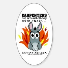 Carpenters Oval Decal