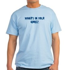 """What's in Your Genes?"" Novelty T-Shirt"