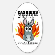 Cashiers Oval Decal