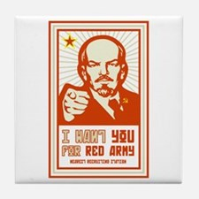 Soviet Red Army I Want You Tile Coaster