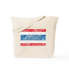 Vintage Thailand Flag Tote Bag