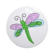 Pretty Dragonfly Ornament (Round)
