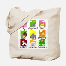 Animals on Parade Tote Bag