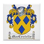 MacCostello Coat of Arms Tile Coaster