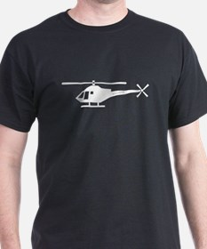 Satire Helicopter Black T-Shirt