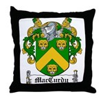 MacCurdy Coat of Arms Throw Pillow