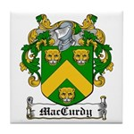 MacCurdy Coat of Arms Tile Coaster
